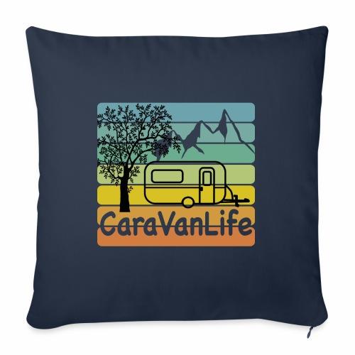 caravan life - Sofakissen mit Füllung 44 x 44 cm