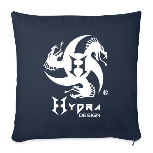 Hydra DESIGN - logo white - Cuscino da divano 44 x 44 cm con riempimento