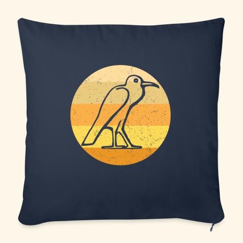Egyptian Bird Retro - Sofa pillow with filling 45cm x 45cm