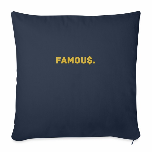 Millionaire. X Famou $. - Sofa pillow with filling 45cm x 45cm