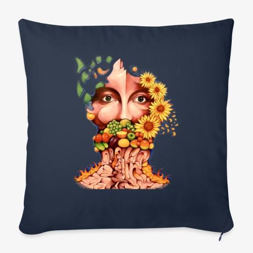 Fruit & Flowers - Sofa pillow with filling 45cm x 45cm
