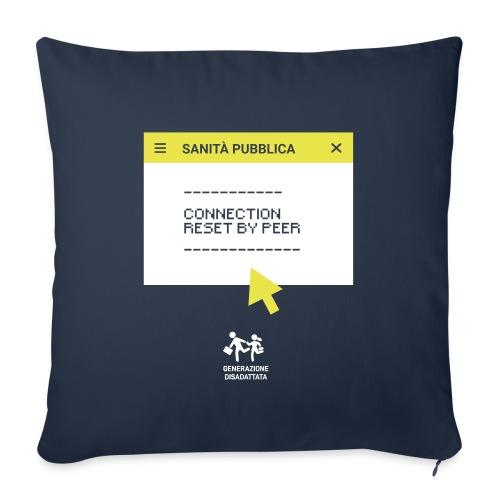 sanità.exe - Cuscino da divano 44 x 44 cm con riempimento