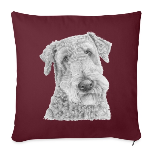 airedale terrier - Sofapude med fyld 44 x 44 cm