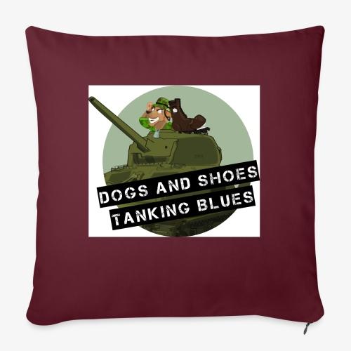 logo dogs nieuw - Bankkussen met vulling 44 x 44 cm