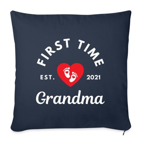 First time Grandma - est 2021 - Sofapute med fylling 44 x 44 cm