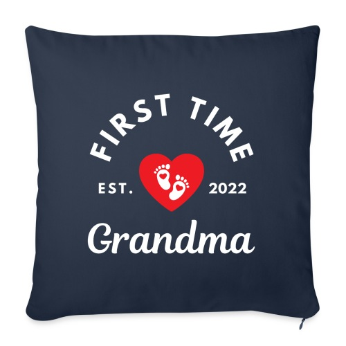 First time grandma est. 2022 - Sofapute med fylling 44 x 44 cm