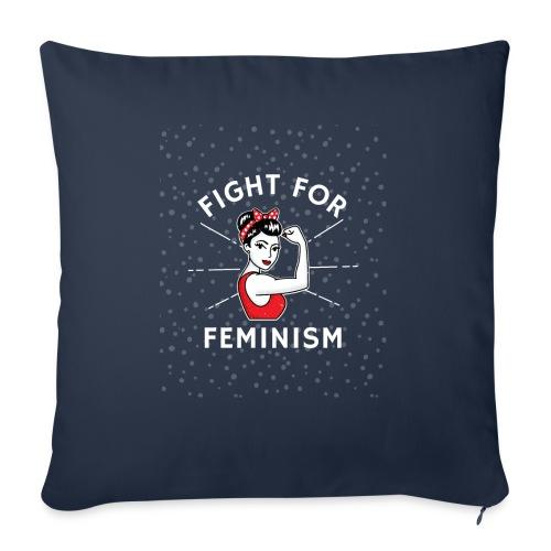 shirt designer feminism - Cojín de sofá con relleno 44 x 44 cm