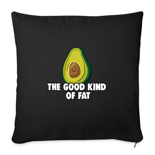 Avocado: The Good Kind of Fat - Sofa pillow with filling 45cm x 45cm
