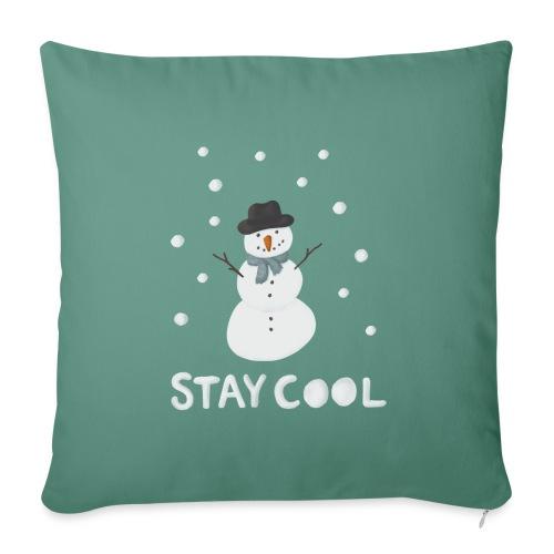 Snowman - Stay cool - Soffkudde med stoppning 44 x 44 cm