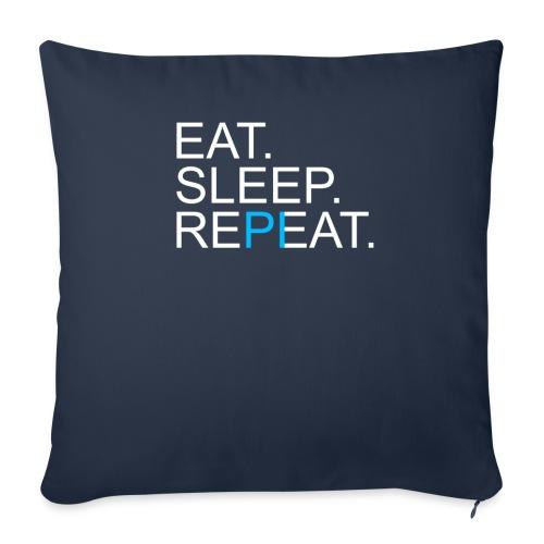 Eat Sleep Repeat PI Mathe Dunkel - Sofakissen mit Füllung 44 x 44 cm