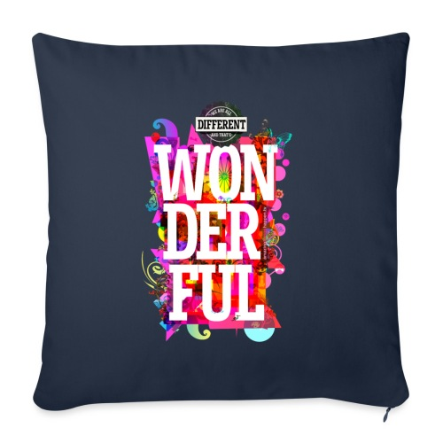 All Different (English) Portrait -- - Sofa pillow with filling 45cm x 45cm