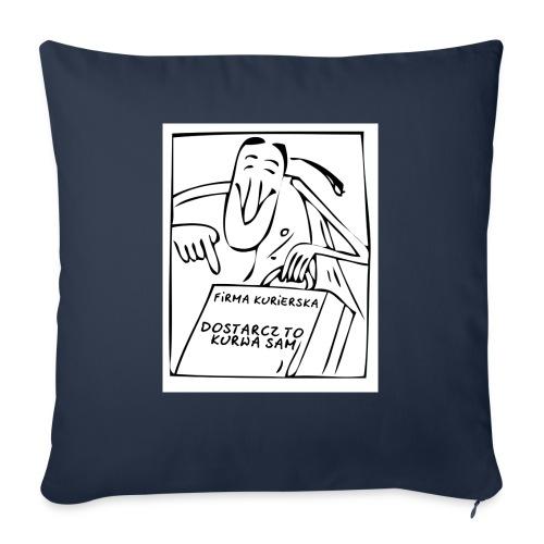 firma kurierska przod - Poduszka na kanapę z wkładem 44 x 44 cm