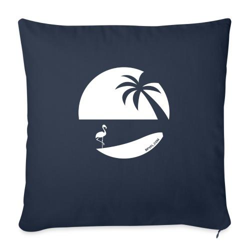 Logo French Floridian blanc - Coussin et housse de 45 x 45 cm