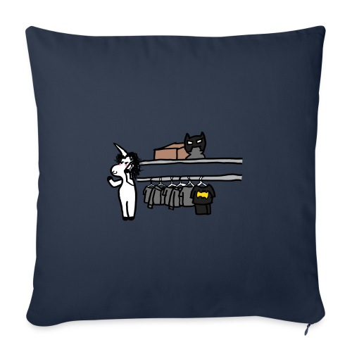 Unicorn parla al telefono - Cuscino da divano 44 x 44 cm con riempimento