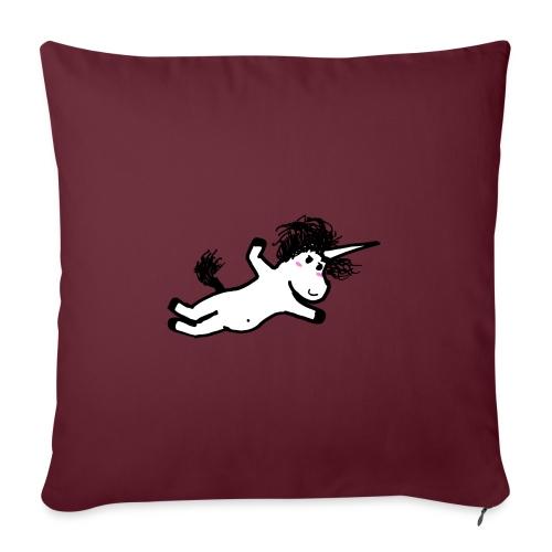 unicorno che si lancia sul nulla - Cuscino da divano 44 x 44 cm con riempimento