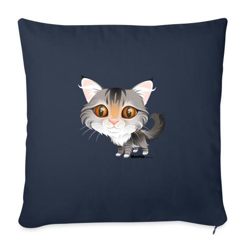 Katt - Sofapute med fylling 44 x 44 cm