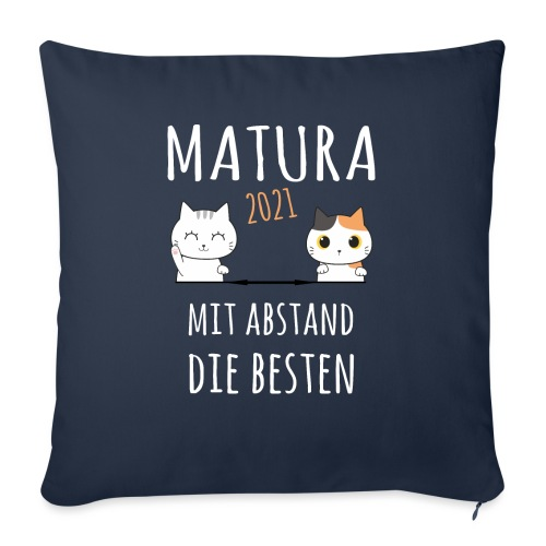 Matura 2021 Schule Corona Katze Shirt Geschenk - Sofakissen mit Füllung 44 x 44 cm