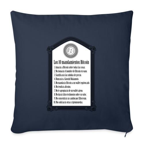 Los 10 mandamientos Bitcoin - Cojín de sofá con relleno 44 x 44 cm