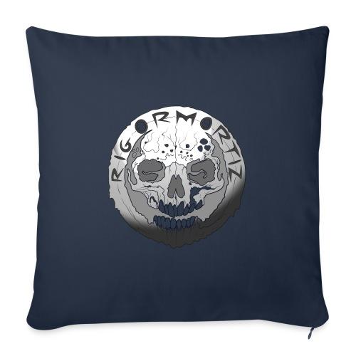 Rigormortiz Black and White Design - Sofa pillow with filling 45cm x 45cm