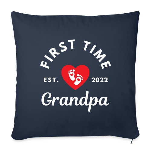First time grandpa 2022 - Sofapute med fylling 44 x 44 cm