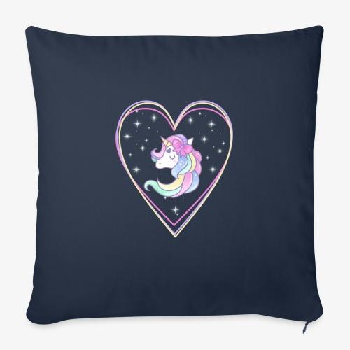 Unicorn - Cuscino da divano 44 x 44 cm con riempimento
