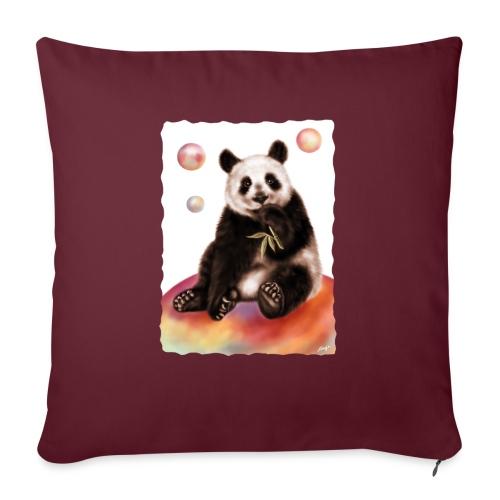 Panda World - Cuscino da divano 44 x 44 cm con riempimento