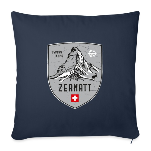 Zermatt Schweiz Wappen - Sofa pillow with filling 45cm x 45cm