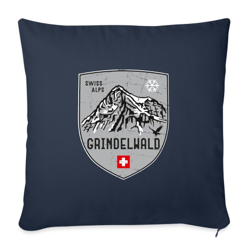 Grindelwald Switzerland coat of arms - Sofa pillow with filling 45cm x 45cm