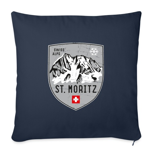 St. Moritz coat of arms - Sofa pillow with filling 45cm x 45cm