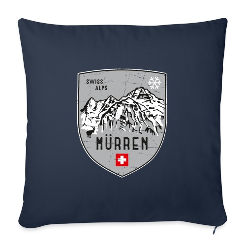 Murren Switzerland coat of arms - Sofa pillow with filling 45cm x 45cm