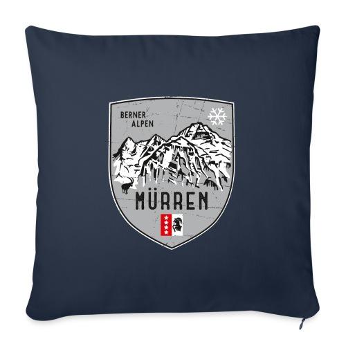 Eiger, Mönch und Jungfrau mit Mürren Flagge - Sofa pillow with filling 45cm x 45cm