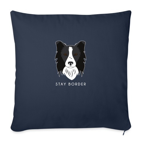 Border Collie - Cuscino da divano 44 x 44 cm con riempimento