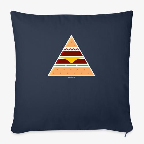 Triangle Burger - Cuscino da divano 44 x 44 cm con riempimento