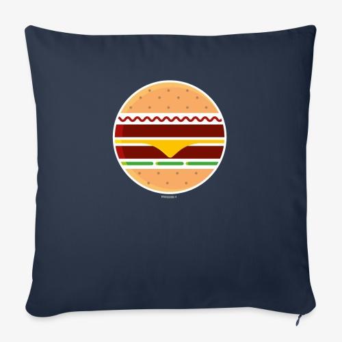 Circle Burger - Cuscino da divano 44 x 44 cm con riempimento