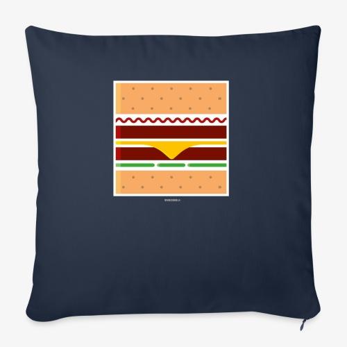 Square Burger - Cuscino da divano 44 x 44 cm con riempimento