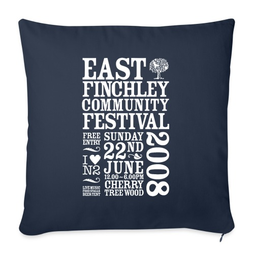 2008 East Finchley Community Festival - Sofa pillow with filling 45cm x 45cm