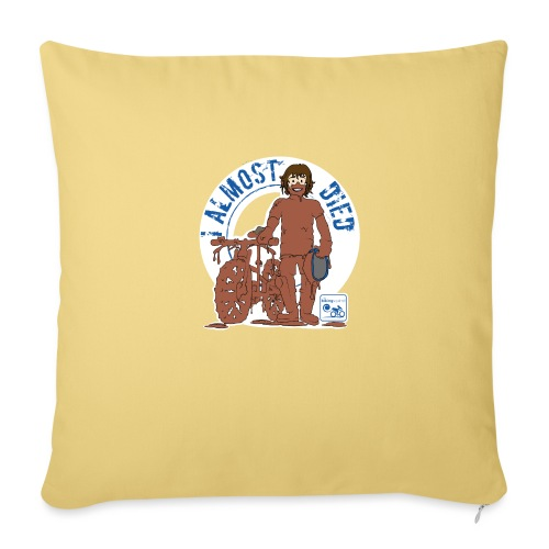 I almost died - Sofa pillow with filling 45cm x 45cm