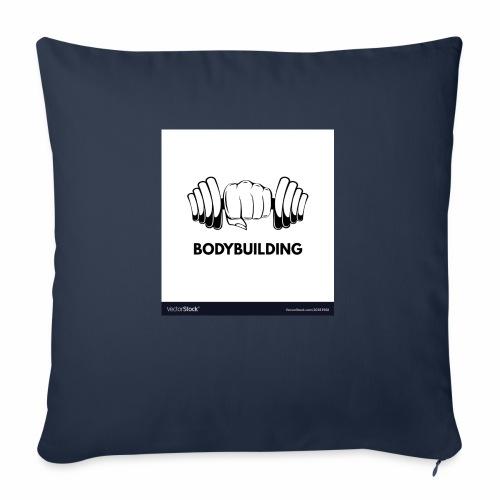 Bodybuilding, kropps byggare - Soffkudde med stoppning 44 x 44 cm