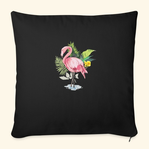 Flamingo tropical forest - Sofa pillow with filling 45cm x 45cm