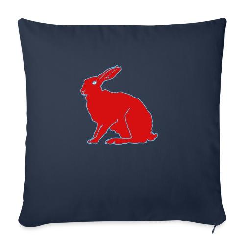 Roter Hase - Sofakissen mit Füllung 44 x 44 cm