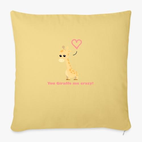 Giraffe Me Crazy - Sofapude med fyld 44 x 44 cm