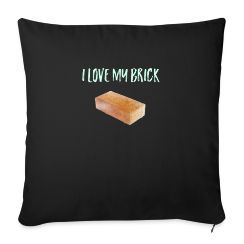I love my brick - Sofa pillow with filling 45cm x 45cm