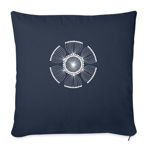 White Poppy Seed Mandala II - Sofa pillow with filling 45cm x 45cm