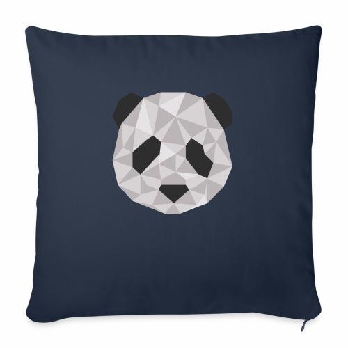 panda géométrique - Coussin et housse de 45 x 45 cm