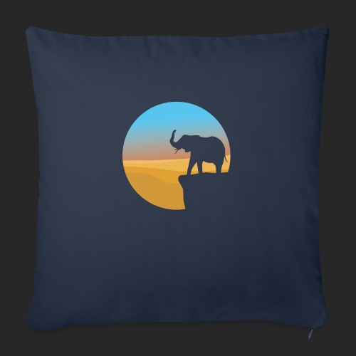 Sunset Elephant - Sofa pillow with filling 45cm x 45cm