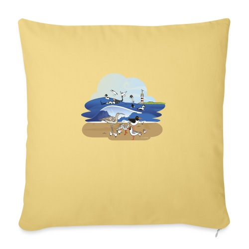See... birds on the shore - Sofa pillow with filling 45cm x 45cm