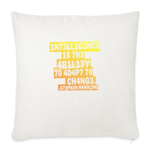 Stephen Hawking - Intelligence - Sofa pillow with filling 45cm x 45cm