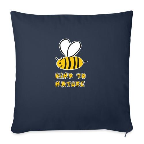 Bee kind to nature Bienen retten - Sofakissen mit Füllung 44 x 44 cm