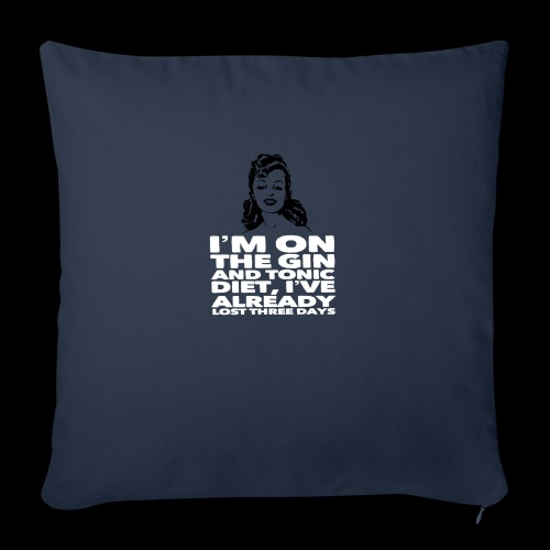 Vintage lady funny quote - Sofa pillow with filling 45cm x 45cm