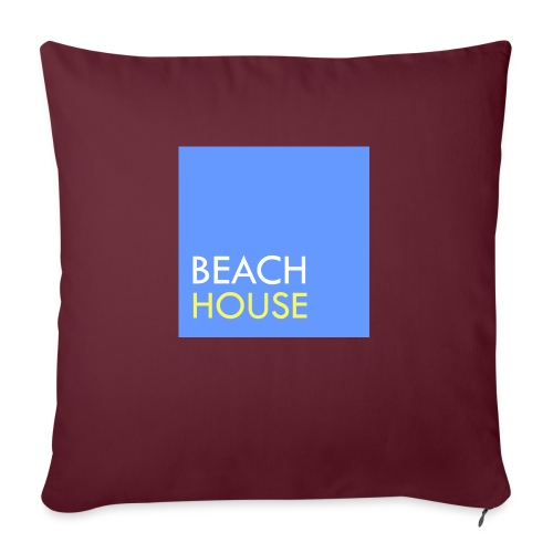 Blue Summer Logo - Sofa pillow with filling 45cm x 45cm